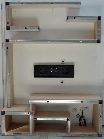Fabriquer une etagere en bois for Meuble tv jeffrey