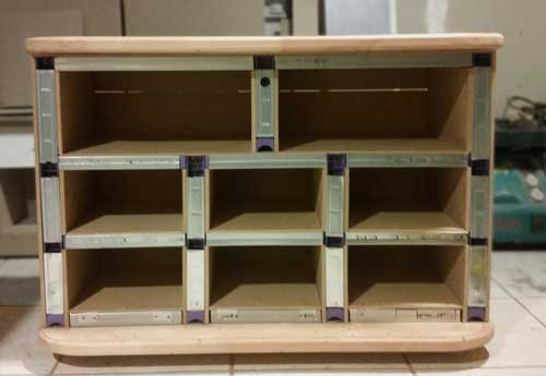 Fabriquer un meuble avec tiroirs for Meuble avec plusieurs tiroirs