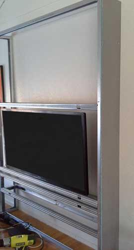 fabriquer un meuble tv de style scandinave. Black Bedroom Furniture Sets. Home Design Ideas