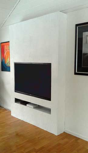 fabriquer un meuble TV de style scandinave