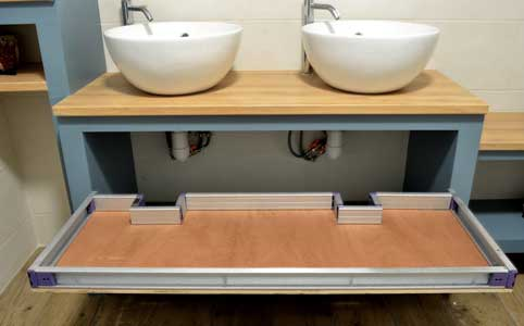 build a large drawer for bathroom cabinet 2
