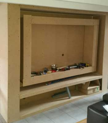 fabriquer un meuble tv avec bandeau led. Black Bedroom Furniture Sets. Home Design Ideas