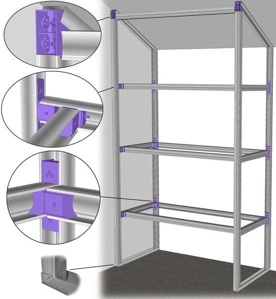 Plan construction d 39 un placard for Fabriquer un placard avec portes coulissantes